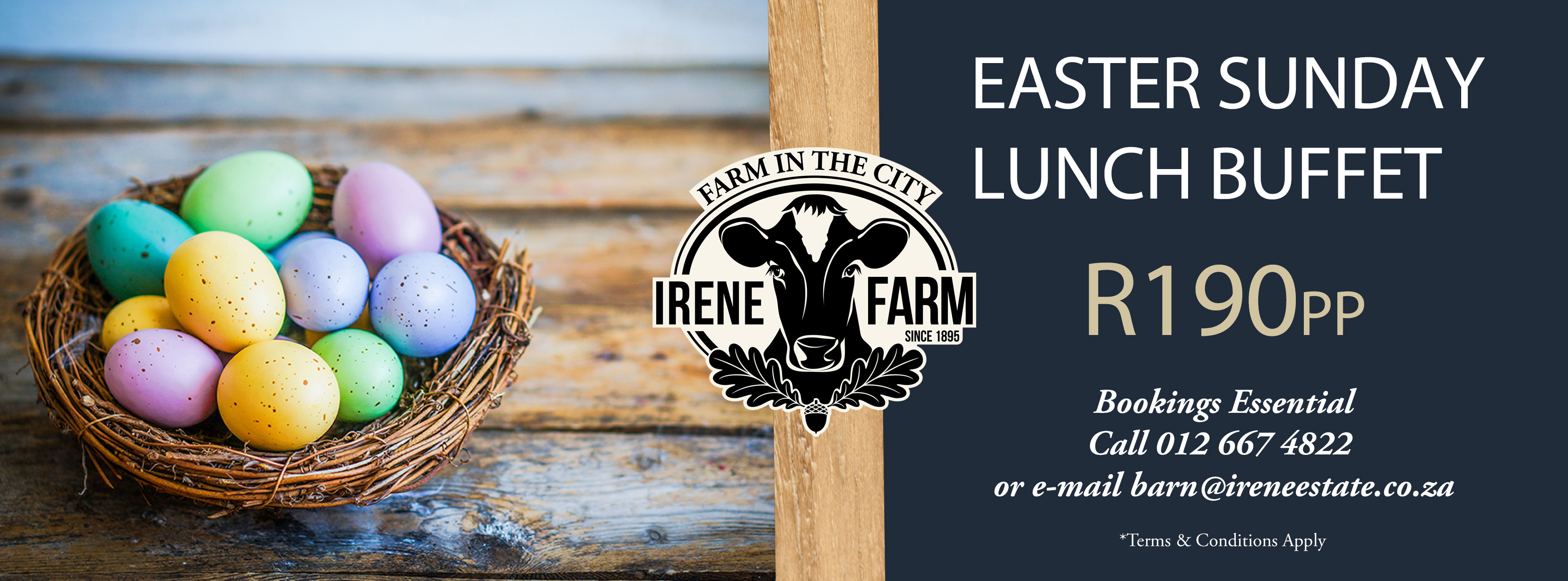 Easter Sunday Lunch @ The Pasture - Pop Up Restaurant